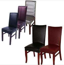 BestOnlinePu Leather Spandex Chair Covers - Lace Brown,Brown,Silver,Wine Red Stripes,Black stripes,Black,Lace Black,Purple,Lace Purple,Red,Lace Red