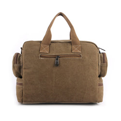 BestOnlineVintage Men's Canvas Briefcase Crossbody Bag- Black,Coffee,Gray,Khaki