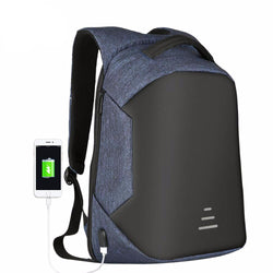 BestOnlineAnti-theft Men's Backpack For 15.6 Inch Laptop With External USB - Black,Blue,Gray,Red