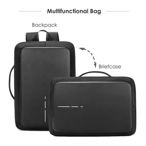 BestOnlineOffice Waterproof Backpack/Briefcase With Password Lock,External USB For 15.6 inch Laptop