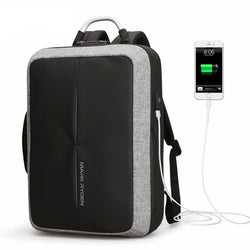 BestBuySale Backpack Fashion Anti Theft USB Charging Backpack With Custom Lock - Black,Gray