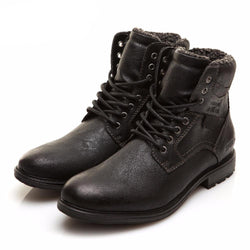 BestBuySale Men's Boots Men's Winter Fashion Warm Comfortable Winter Lace-Up Boots