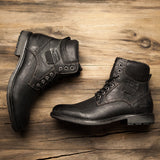 BestOnlineMen's Winter Fashion Warm Comfortable Winter Lace-Up Boots