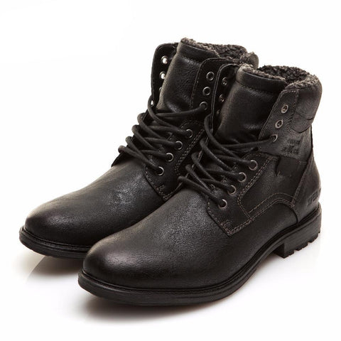 BestBuySaleMen's Winter Fashion Warm Comfortable Winter Lace-Up Boots