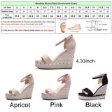 BestBuySale Women's Sandals Women's Fashion  Summer High Wedge Sandals Shoes - Black,Pink,Apricot