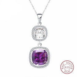 BestBuySale Pendant Necklace 925 Sterling Silver Pendant Necklace With Big AAA Cubic Zirconia