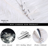 BestOnlineEthnic 925 Sterling Silver Long Leaf Shape Women's Pendant Necklace