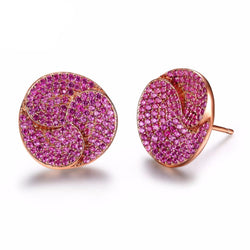 BestBuySale Earrings Luxury Women's Stud Earrings With AAA Zirconia Flower