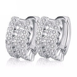 BestBuySale Earrings Luxury Women's Earrings With Small Circle Austrian CZ