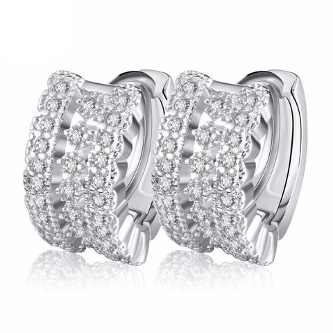 BestOnlineLuxury Women's Earrings With Small Circle Austrian CZ