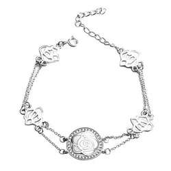 BestBuySaleWomen's Beautiful Flower Bracelet with AAA CZ