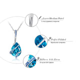 BestBuySale Pendant Necklace Women's Pendant Necklace With Water Drop AAA Big Cubic Zirconia