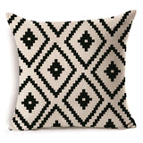 BestOnlineBlack and White Geometric Shapes Cushion Covers - 6 Styles