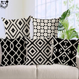 BestBuySale Cushion Covers Black and White Geometric Shapes Cushion Covers - 6 Styles