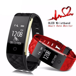 BestBuySalePINWEI S2 Smart Wristband With Heart Rate Monitor IP67 Waterproof Bluetooth For iOS Android