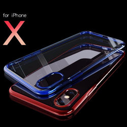 BestOnlineUltra thin Protective Case for iPhone X - Blue,Gray,Red,Silvery