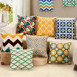 BestOnlineGeometric Square Pillow Cushion Cover