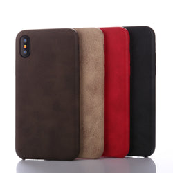 BestBuySale Cases Retro Luxury PU Leather Case for Apple iPhone X - Black,Brown,Khaki,Red