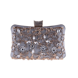 BestBuySale Clutch Bags Women's Fashion Metal Beaded Clutch Bags - Silver,Black,Gold