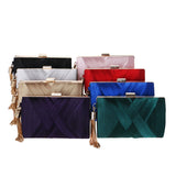 BestBuySale Clutch Bag Women's Fashion Wedding Round/Rectangular Clutch Bag with Metal Tassel