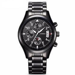 BestBuySale Watch Men's Black Stainless Steel Watch With Date Display
