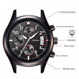 BestOnlineMen's Black Stainless Steel Watch With Date Display