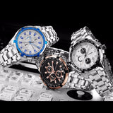 BestBuySaleMen's Stainless Steel Fashion Watch - Blackgold,Silverblack,Silverblue