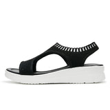 BestBuySale Women's Sandals Summer Fashion Wedge Comfortable Women's Sandal Shoes - Black,White,Grey,Blue