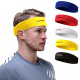 BestBuySale Sweatbands Elastics Sports Sweatband - White,Yellow,Red,Blue,Black