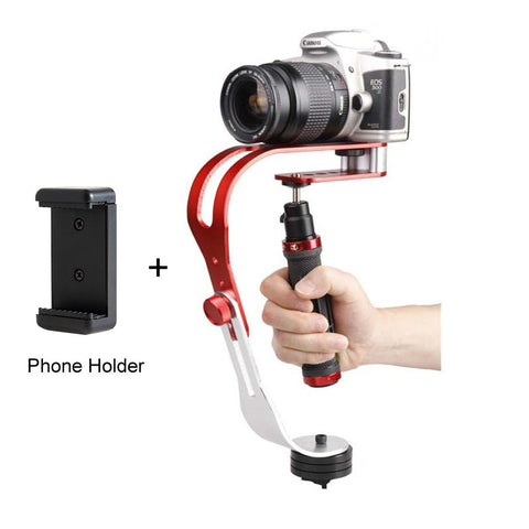 BestBuySaleMini Handheld Digital Camera Stabilizer Video Steadicam Mobile 5DII Motion DV Steadycam + Smartphone Clamp