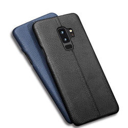 BestOnlineSamsung Galaxy S9 & S9 Plus Litchi Leather Texture Cases -Black,Blue,Light Brown