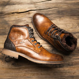 BestBuySaleMen's Fashion Vintage Style High-Cut Lace-Up Winter Boots