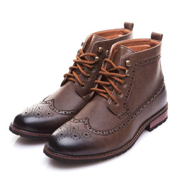 BestOnlineSpring/Winter Men's Fashion Lace-up High-Cut Classic Boots