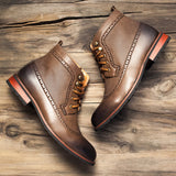 BestBuySale Men's Boots Spring/Winter Men's Fashion Lace-up High-Cut Classic Boots