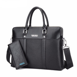 BestBuySale Briefcases Men's Fashion Business Briefcase + Wallet - Black,Blue