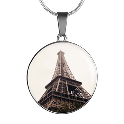 BestOnlineEiffel Tower Luxury Pendant Necklace and Bangle - Gold,Silver