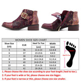 BestBuySale Boots Retro Bohemian Women's Ankle Boots With Zip - Wine Red,Black,Blue