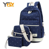 BestBuySale Backpack Y-FLY 3pcs/set Canvas Fashion Backpacks