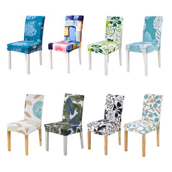 BestBuySale Chair Covers Floral Print Design Stretch Chair Cover For Party Banquet Wedding Restaurant - 24 Designs