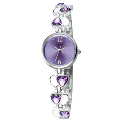BestBuySale Watch Kimio Heart Gem Thin Strap Wrist Watches