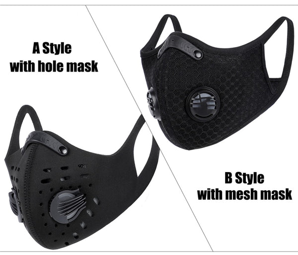 BestBuySale Face Mask Sports/Cycling Face Mask with Activated Carbon Filter and Exhalation Valves