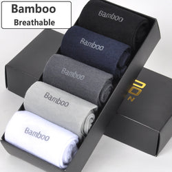 BestOnlineBamboo Fiber Socks Breathable Anti-Bacterial Men's Long Sock -  5pairs / lot