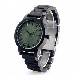 BestBuySaleEbony Wooden Quartz Watch