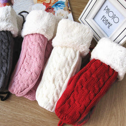 BestOnlineWomen's Winter Thick Wool Warm Knitted Gloves