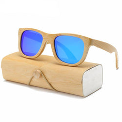 SunglassesOnlineUSA Wood Sunglasses Square With Case