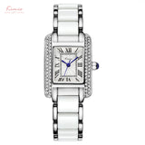 BestOnlineKimio Brand Women Quartz Watches Silver Diamond