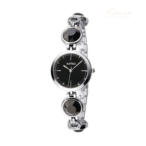 BestBuySale Watch KIMIO  Simiple Fashion Quartz Watches For Women Waterproof Gem Hollow