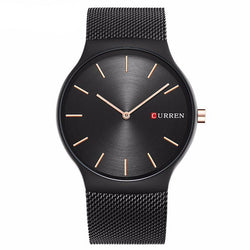 BestOnlineCurren Luxury Quartz Analog Stainless Steel Brand Wristwatch For Men - Black/Blue/Grey/Gold/Rose Gold