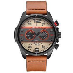 BestBuySaleCURREN Watches Men Luxury Brand Army Military Watch Leather Sports Watches Quartz Men Waterproof Wristwatches Male Clock
