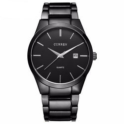 BestBuySale Watch CURREN Luxury Brand  Analog Wristwatch With Display Date Stainless Steel Brand Watch - Black/White/Silver